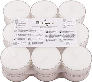 Pritogo Lot de 18 bougies chauffe-plat en plastique Maxi XXL Ø 5,8 x 2,2 cm, sans suie, sans parfum, qualité gastronomique