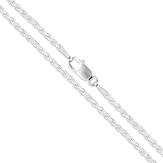 Sterling Silver Diamond-Cut Rope Chain 1.1mm 1.5mm 1.7mm 2mm 2.5mm Solid 925 Italy New Necklace