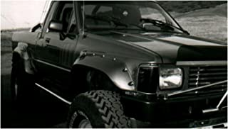 Bushwacker 31009-11 Black Cutout Style Smooth Finish Front Fender Flares, Compatible with 1984-1988 Toyota Pickup