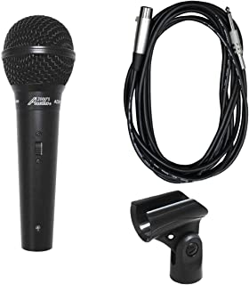Audio2000s ADM1064B Professional Cardioid Dynamic Microphone With 16 ft. Detachable Cable - Black Metal
