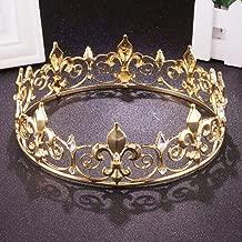 Elehere Gold King Crown Tiara 7
