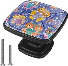 Keukenkast Knoppen - Uilen (2) - Knoppen voor dressoir laden voor kast, kast, badkamer of kantoor - Pack van 4