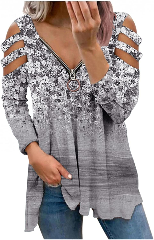 Womens Long Sleeve Tops,Womens Crewneck Sweatshirts Long Sleeve Fashine Print Color Matching Thermal Pullover