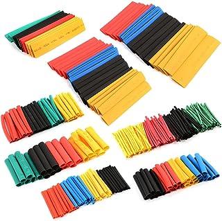KINGDUO 328Pcs 8 Tailles Multicolores Thermorétractable Tubes Tube Manchon Enrouleur Câble Polyoléfine Électrique