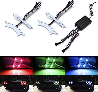 iJDMTOY RGBW LED Halo Ring Circuit Board Lighting Kit For 2015-up Dodge Challenger, Smartphone Remote Controlled