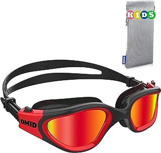 Kids Swim Goggles, OMID Comfortable Polarized Anti-Fog...