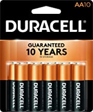 Duracell - CopperTop AA Alkaline Batteries - long lasting, all-purpose Double A battery for household and business - 10 Count
