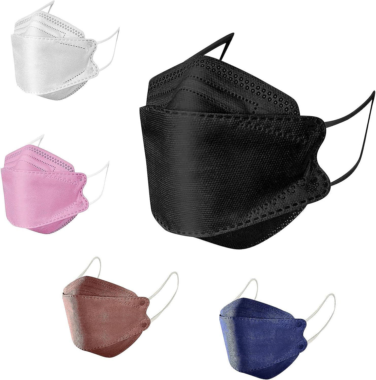YESMAN Máscara al aire libre de la prevención del adulto de la manera 4-capa de la construcción gotita y máscaras no tejidas diarias de los pescados de la niebla