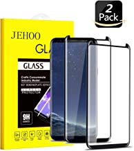 JEHOO Galaxy S8 Screen Protector, [2-Pack] Tempered Glass Screen Protector [9H Hardness][Anti-Scratch][Anti-Bubble][3D Curved] [High Definition] [Ultra Clear] for Samsung Galaxy S8