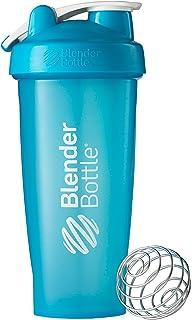 BlenderBottle Disc White Loop Classic Shaker Bottle, 28-Ounce Top, Aqua/Aqua