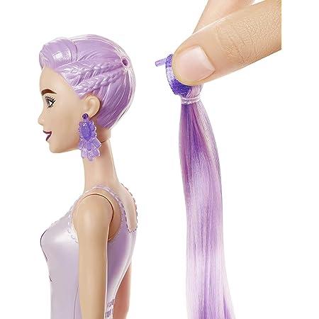 Barbie Color Reveal Serie Metallic, Bambola con 7 Sorprese, Assortimento Casuale, Giocattolo per Bambini 3+Anni,GTR93