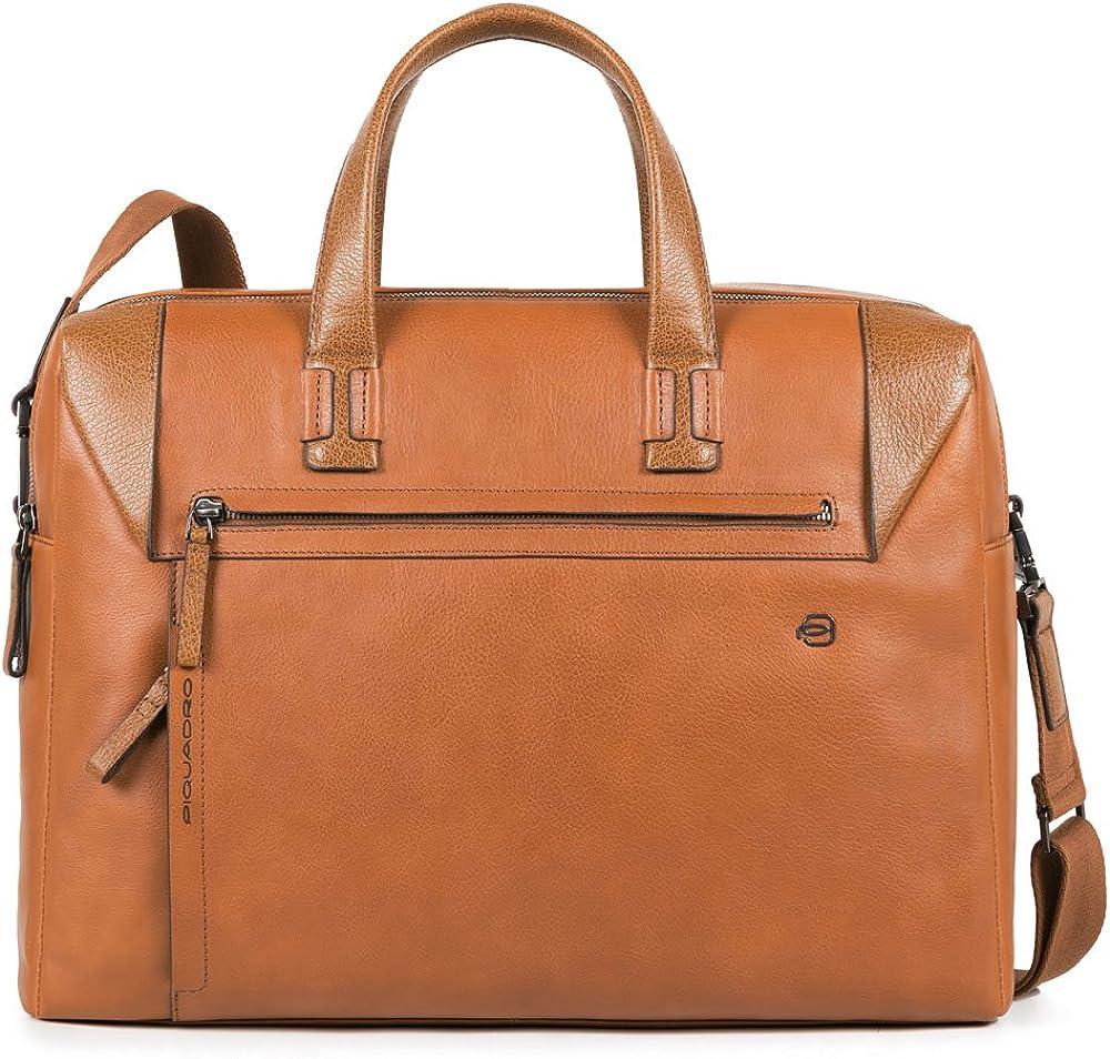 Piquadro, borsa, cartella porta pc portatile, 100% vera pelle CA4256S94/M
