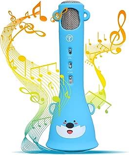 Tosingカラオケマイク 子供のマイク おもちゃ クリスマスプレゼント 誕生日プレゼント 女の子 人気 高音質カラオケ機器 Bluetoothで簡単に接続 無線マイク 一人でカラオケ Android/iPhoneに対応 日本語説明書付き(ブルー)