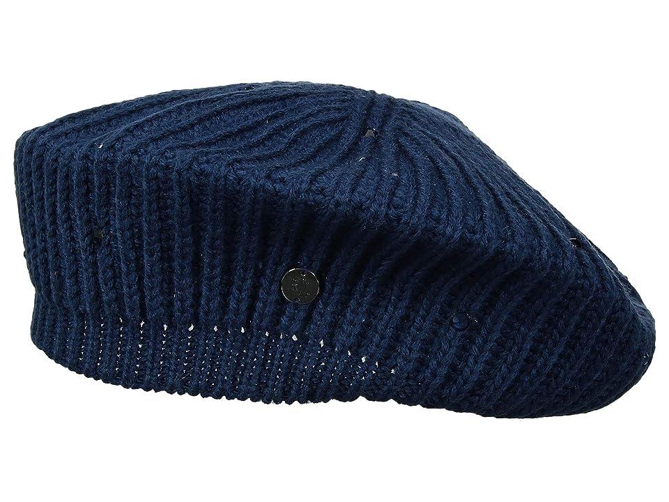 LAUREN Ralph Lauren Crystal Rib Beret (Cadet Blue) Berets