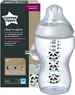 Tommee Tippee Closer To Nature Easi-Vent Decorative Feeding Bottle, 340Ml Blue, Tt42269786
