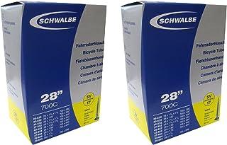 SCHWALBE(シュワルベ) 700×28/45C用チューブ 仏式ロングバルブ(60mm) 17SV-E.L 2本セット 【並行輸入品】