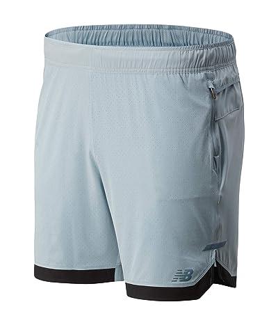 New Balance Q Speed Run Crew Shorts (Light Slate) Men