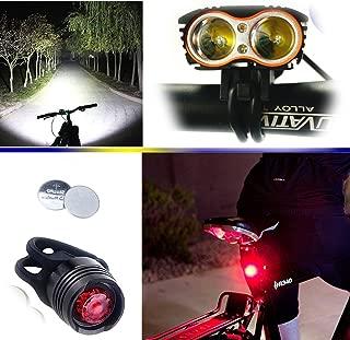 Demiawaking Bicicletta Super Bright torcia 5/LED luce frontale Testa