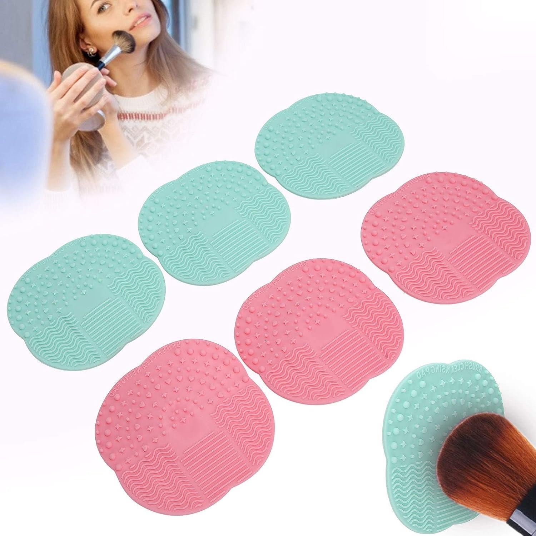 6pcs Virginia Beach Mall NonSlip Makeup Brush Cleaner Pad Ecofriendly Industry No. 1 Por Scrubber