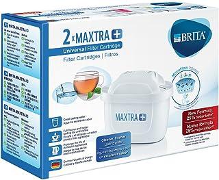 BRITA MAXTRA+ – 2 filtros para el agua – Cartuchos filtrantes compatibles con jarras BRITA que reducen la cal y el cloro