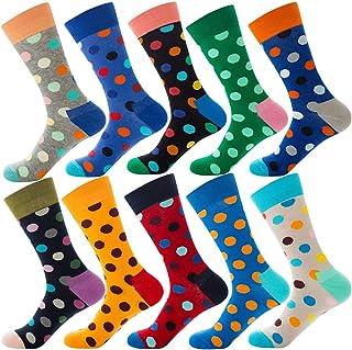Calcetines Estampados Hombre de Moda - Calcetines Largos Divertidos - Calcetines Algodon Colores, 10 Pares