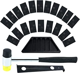 Homend Laminate Wood Flooring Installation Kit with Tapping Block, Pull Bar, Mallet and 20 Spacers