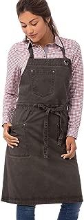Chef Works Unisex Dorset Bib Apron, Pewter, One Size