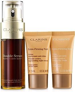 クラランス Double Serum Extra-Edition Set: Double Serum 50ml + Extra-Firming Day Cream 15ml + Extra-Firming Night Cream 15ml 3pcs並行輸入品