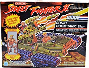 GI Joe Street Fighter II Sonic Boom Tank with Guile Action Figure Vintage Collectible (1993)