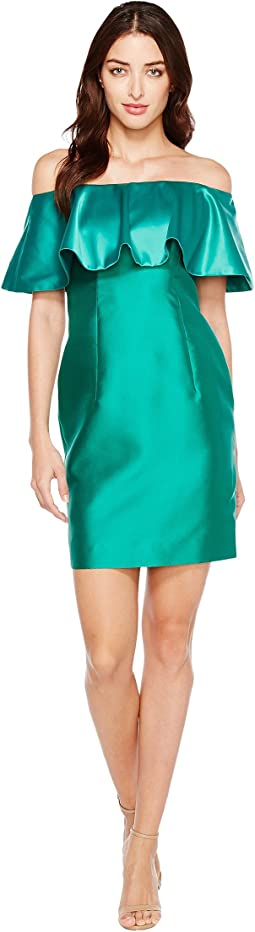 Fabric Combo Flounce Dress