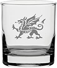 Traditional Whisky Glass With Welsh Dragon Design