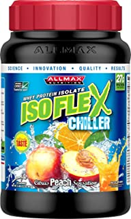 ALLMAX Nutrition Isoflex Chiller, Whey Protein Isolate, Citrus Peach, 2 lb
