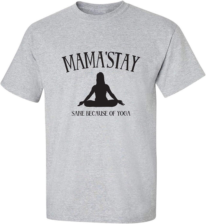 zerogravitee Mama'Stay Sane Because of Yoga Adult Short Sleeve T-Shirt