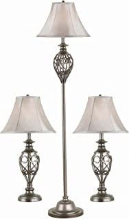 Kenroy Home 80007SIL Cerise Lamps, 64 Inch Height, 15 Inch Width, Silver Finish