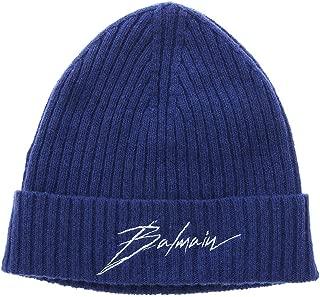 Balmain Luxury Fashion Mens SH1A049K0826UB Blue Hat | Fall Winter 19