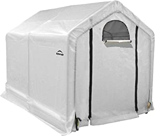 ShelterLogic 6 x 8 x 6-Foot GrowIT Peak Roof Backyard Greenhouse, 6' x 8' x 6', Translucent
