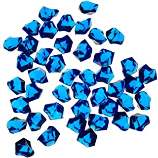 1 X Translucent Royal Blue Acrylic Ice Rocks for Vase Fillers or Table Scatters