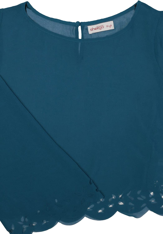 New Style by Sheego Kurztunika Tunika Damen Langarm Chiffon Lagenlook Plusgröße
