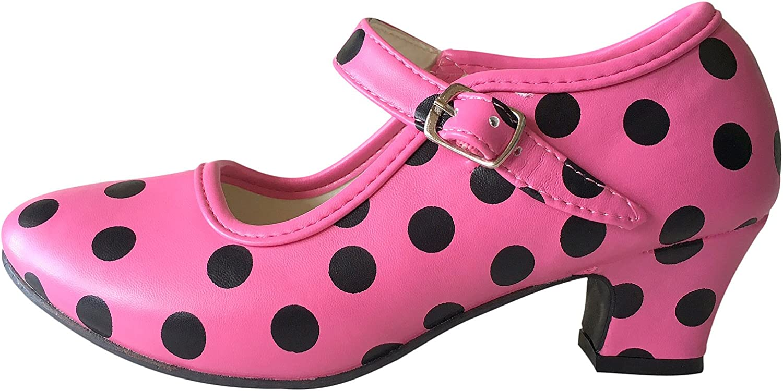 La Senorita Flamenco Shoes Spanish Pink Black Limited time sale Baltimore Mall Pol Princess