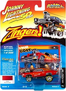 Johnny Lightning 1:64 Street Freaks Ver B 1973 Pontiac GTO Zinger Red Hot Stuff