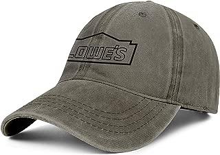 BOIN Lowes-Black Land Snapback Baseball Cap Cool Adjustable Sun Hat for Unisex