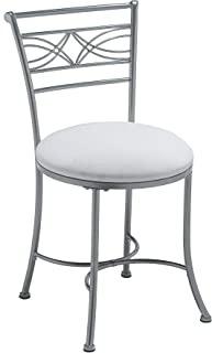 Hillsdale Furniture Dutton Vanity Stool, Chrome