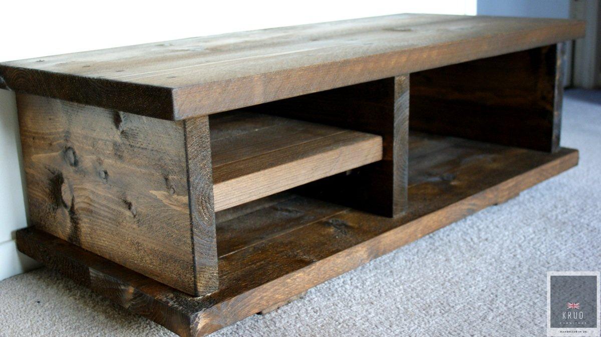 KRUD ~ K7-100 cm – Nogal – Mueble de TV ~ Hecho a mano ~ Madera maciza ~ Estilo andamio ~ 24 colores ~ industrial ~ rústico ~ país ~ mesa de café: Amazon.es: Hogar