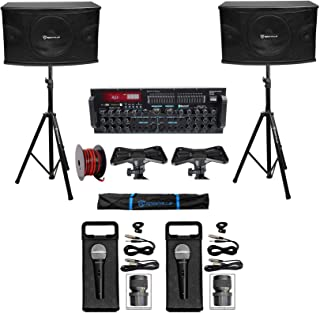 Rockville Karaoke Machine System w/Pair 10