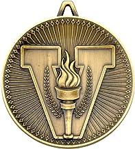 Lapal Dimension Victory Torch Deluxe Medal - Antiek Goud 2.35in