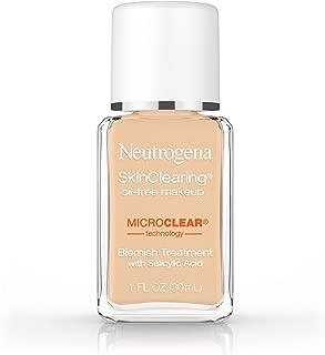 Neutrogena SkinClearing Oil-Free Acne and Blemish Fighting Liquid Foundation with Salicylic Acid Acne Medicine, Shine Controlling, for Acne Prone Skin, 85 Honey, 1 fl. oz