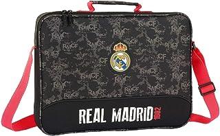 Real Madrid - Cartera Extraescolares, Negro, 38 cm