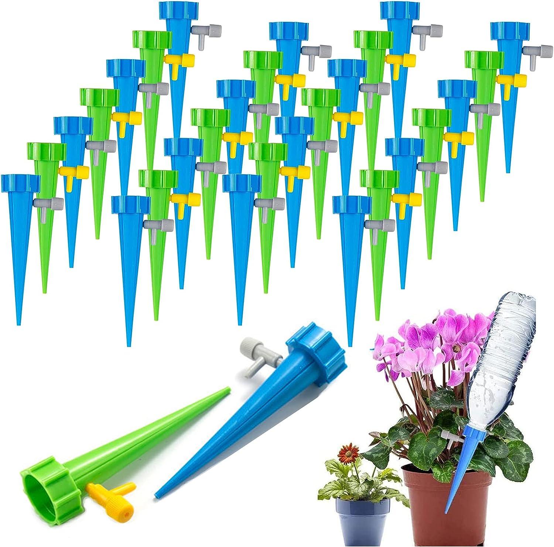 FIBOUND Sistema de Riego Automático,Riego Automático de Plantas,Riego por Goteo de Plantas,Riego por Goteo Automático Kit,con Válvula de Control,para Plantas Interior Exterior-30 Piezas