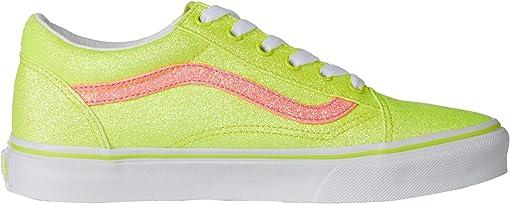(Neon Glitter) Yellow/True White
