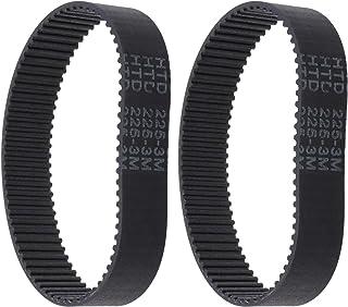 Tandriem van rubber, HTD 225-3M-17, 75 tanden, gesloten lus, compatibel met Bosch PBS75A-GBS75AE Silvercrest Parkside Pebs...